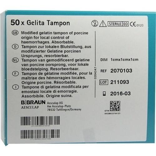 GELITA-Tampon 1x1x1 cm