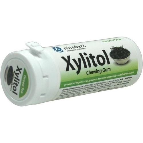 MIRADENT Xylitol Zahnpflegekaugummi grüner Tee