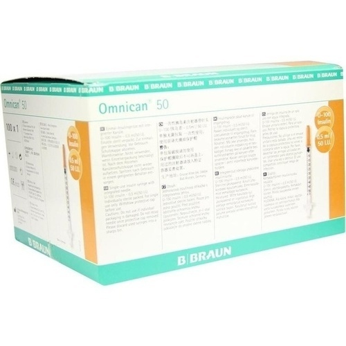 OMNICAN Insulinspr. 0,5 ml U100 m. Kan. 0,30x12 mm e.