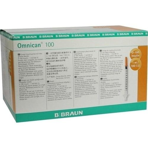 OMNICAN Insulinspr.1 ml U100 m.Kan.0,30x12 mm ein.