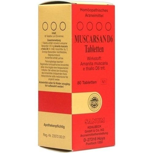 MUSCARSAN D 6 Tabletten