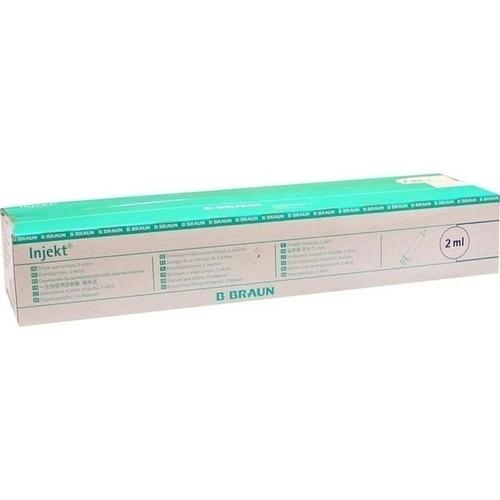 INJEKT Solo Spritze 2 ml LL zentrisch PVC-frei
