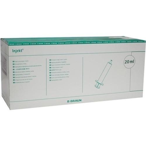 INJEKT Solo Spritze 20 ml LL zentrisch PVC-frei