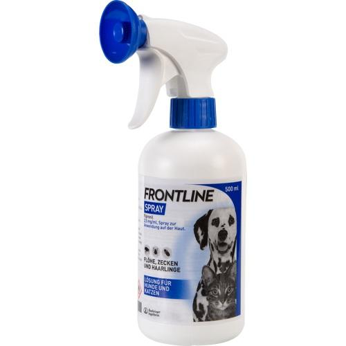 frontline spray f hunde katzen 500 ml f r den hund. Black Bedroom Furniture Sets. Home Design Ideas