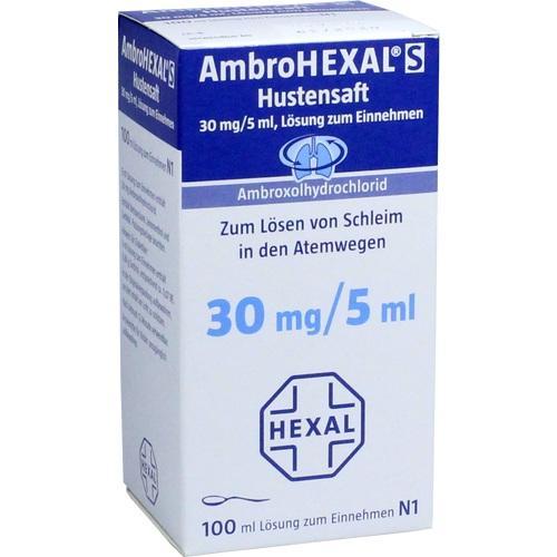 AMBROHEXAL S Hustensaft 30 mg/5 ml