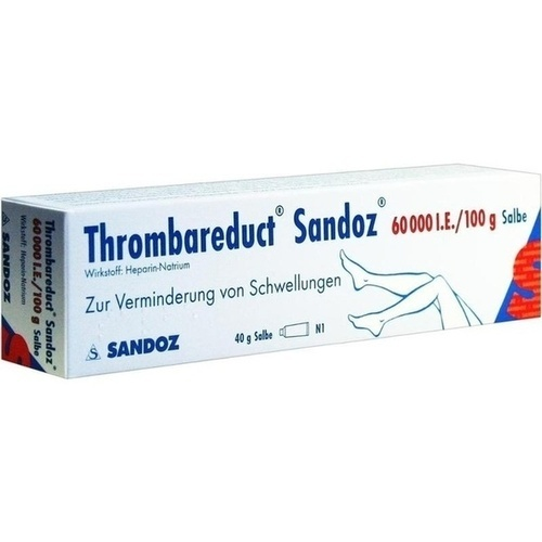 THROMBAREDUCT Sandoz 60. 000 I. E.  Salbe