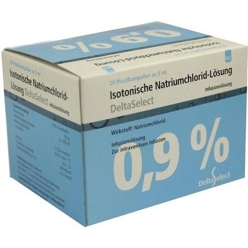 ISOTONISCHE NaCl 0,9% DELTAMEDICA Inf.-Lsg.Pl.Amp.