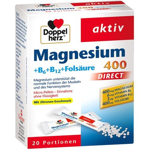 DOPPELHERZ Magnesium+B Vitamine DIRECT Pellets