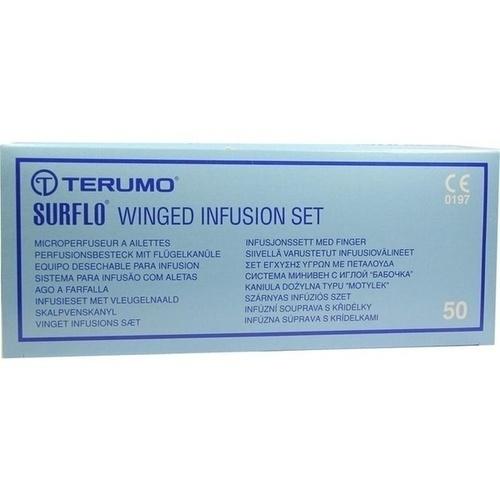 SURFLO Perfusionsbesteck 23 G 30 cm blau