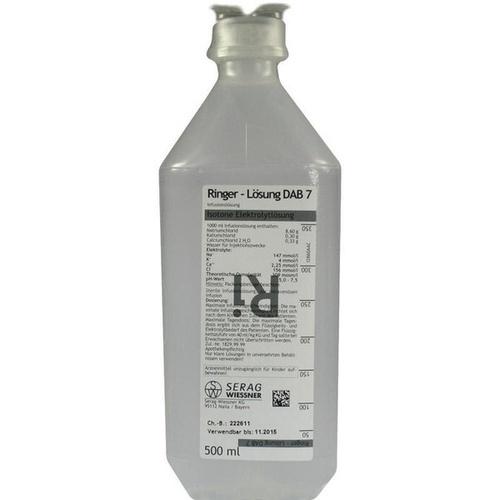 RINGER LÖSUNG DAB 7 Plastik 500 ml