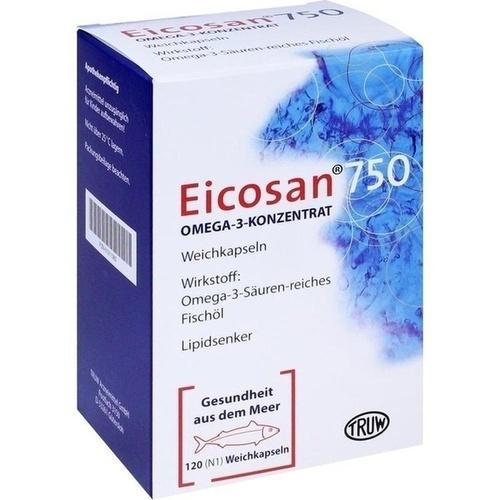 EICOSAN 750 Omega-3 Konzentrat Weichkapseln