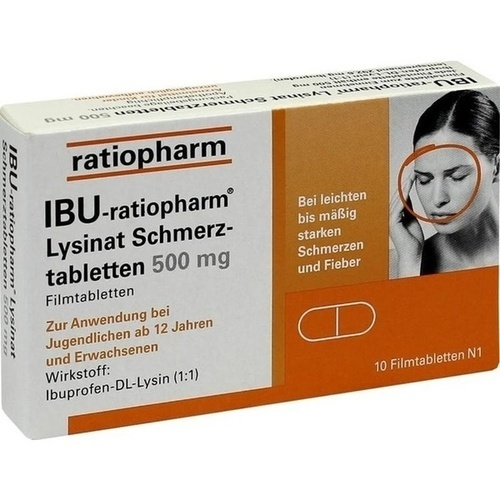 ibu ratiopharm lysinat schmerztabletten 500 mg 01224109. Black Bedroom Furniture Sets. Home Design Ideas