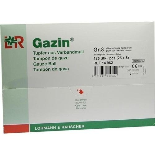 GAZIN Tupfer pflaum.steril 2+3 Schutzr.o.RK