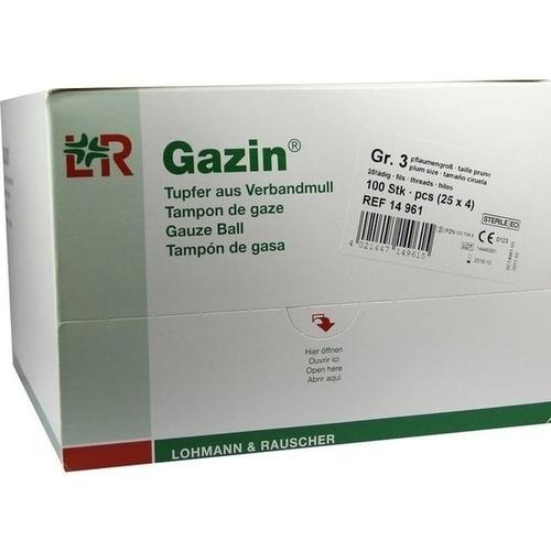 GAZIN Tupfer pflaum.steril 2+2 Schutzr.o.RK