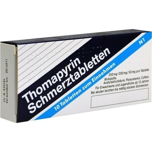 thomapyrin tabletten 10 st schmerzen arzneimittel otc. Black Bedroom Furniture Sets. Home Design Ideas