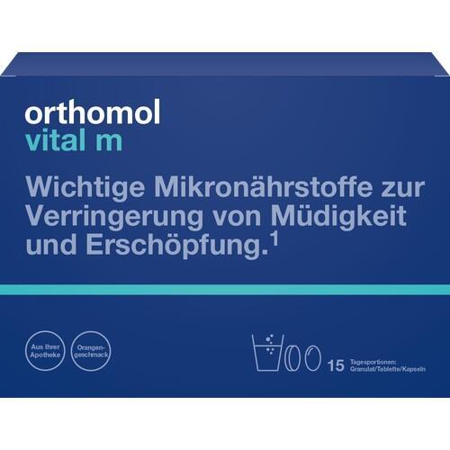 ORTHOMOL Vital M 15 Granulat/Kaps.Kombipackung