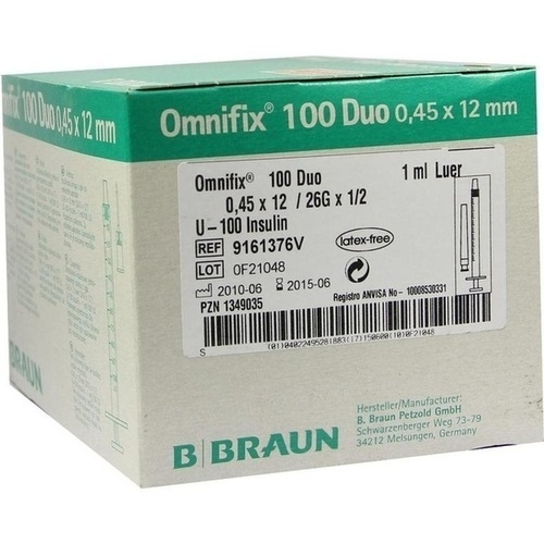OMNIFIX Duo 100 Insulinspr. 1 ml