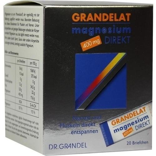 MAGNESIUM DIREKT 400 mg Grandelat Pulver 20 St