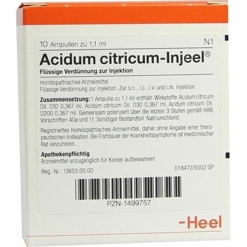 ACIDUM CITRICUM INJEEL Ampullen