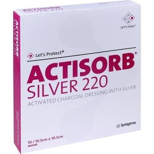ACTISORB 220 Silver 10,5x10,5 cm steril Kompressen