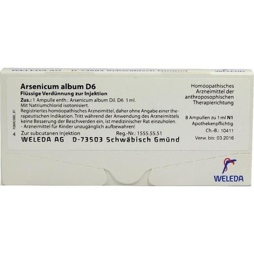 ARSENICUM ALBUM D 6 Ampullen