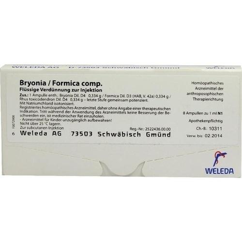 BRYONIA FORMICA comp. Ampullen