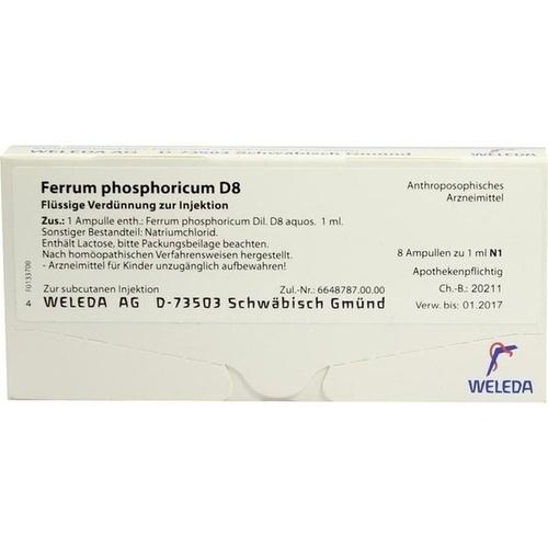 FERRUM PHOSPHORICUM D 8 Ampullen