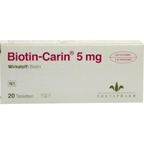 BIOTIN-CARIN 5 mg Tabletten