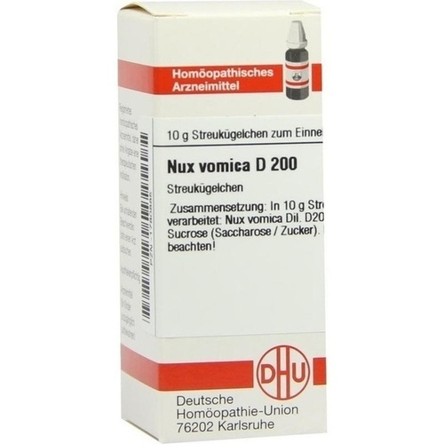 NUX VOMICA D 200 Globuli