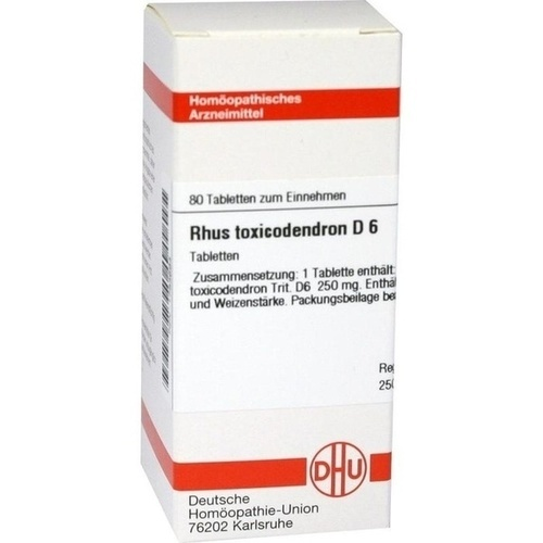 RHUS TOXICODENDRON D 6 Tabletten