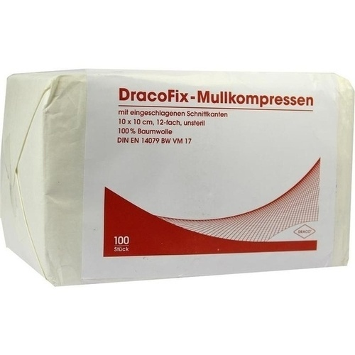 DRACOFIX OP-Kompressen 10x10 cm unsteril 12fach