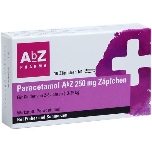 PARACETAMOL AbZ 250 mg Zäpfchen