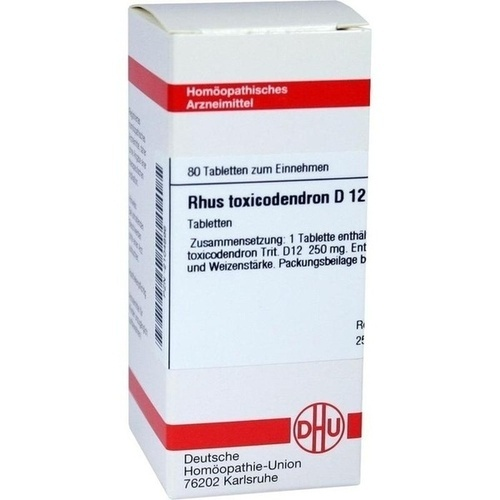 RHUS TOXICODENDRON D 12 Tabletten