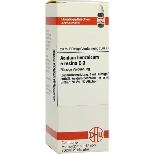 ACIDUM BENZOICUM E Resina D 3 Dilution