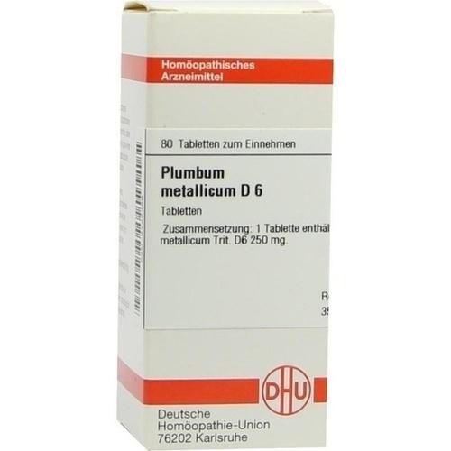 PLUMBUM METALLICUM D 6 Tabletten