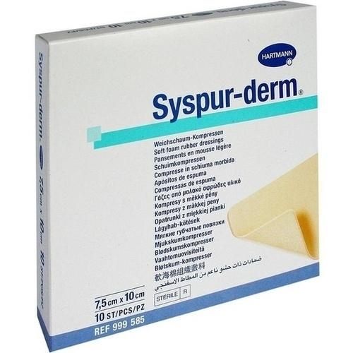 SYSPUR-DERM 7,5x10 cm Weichschaum Kompressen