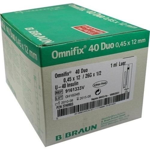 OMNIFIX Duo 40 Insulinspr. 1 ml