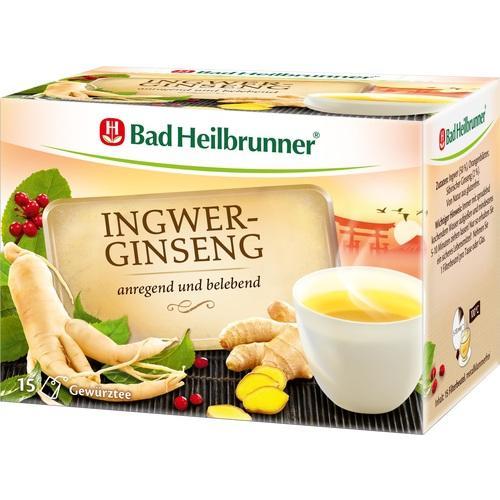 BAD HEILBRUNNER Ingwer-Ginseng Tee Filterbeutel