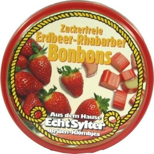 ECHT SYLTER Erdbeer/Rhabarber Bonbons zuckerfr.