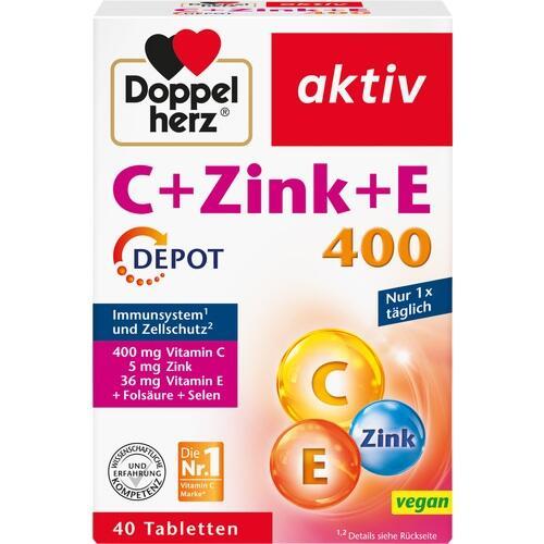 DOPPELHERZ C+Zink+E Depot Tabletten