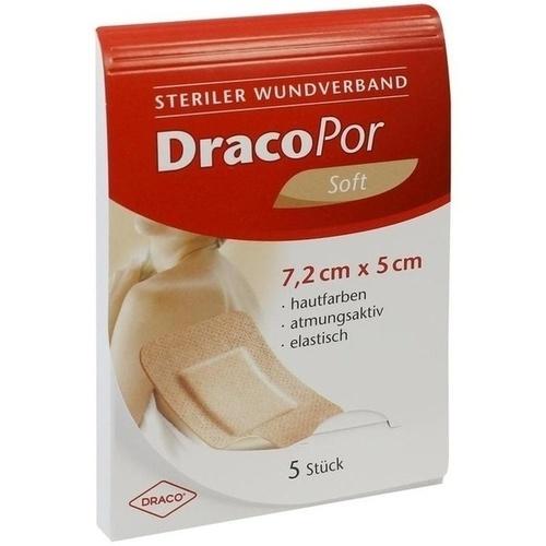 DRACOPOR Wundverband 5x7,2 cm steril hautfarben