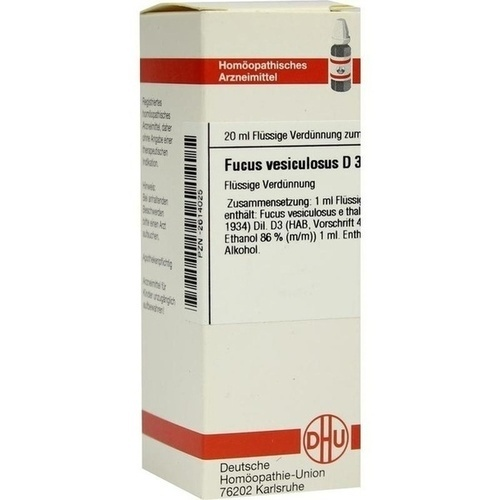 FUCUS VESICULOSUS D 3 Dilution 20 ml