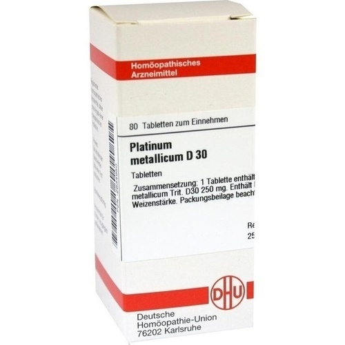 PLATINUM METALLICUM D 30 Tabletten