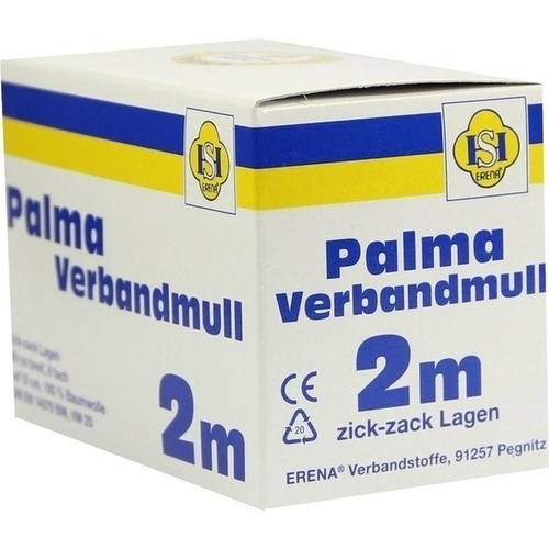 PALMA Verbandmull 80 cm 2 m zickzack Lagen