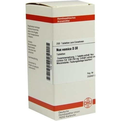 NUX VOMICA D 30 Tabletten