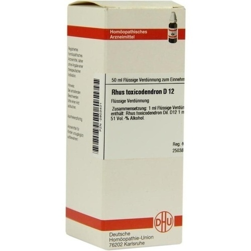 RHUS TOXICODENDRON D 12 Dilution