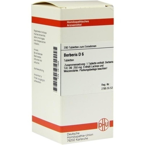 BERBERIS D 6 Tabletten