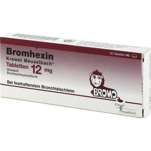 BROMHEXIN Krewel Meuselb.Tabletten 12mg 50 St.