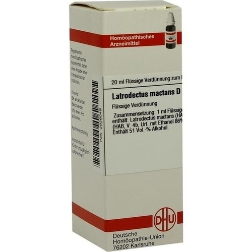 DHU LATRODECTUS MACTANS D 12 Dilution