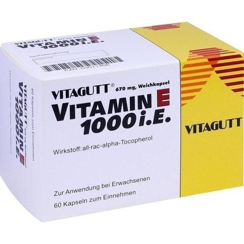VITAGUTT Vitamin E 1000 Weichkapseln